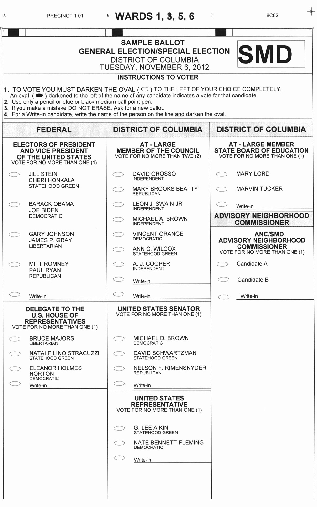 Early Voting Locations and Ward 5 Sample Ballot – Bates Area Civic ...