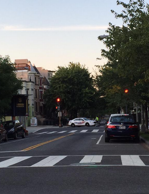 1st & Florida Ave NW street closed off 2015 08 15