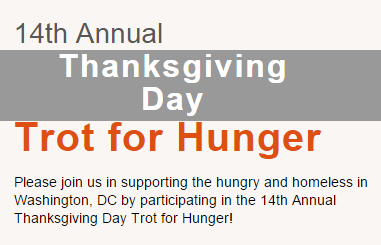 SOME 14th Annual Thanksgiving Day Trot For Hunger 2015