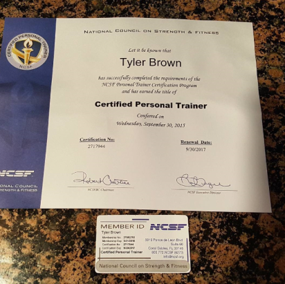 GetStrong Fitness Sweat Club certified personal trainer certificate 2015 11