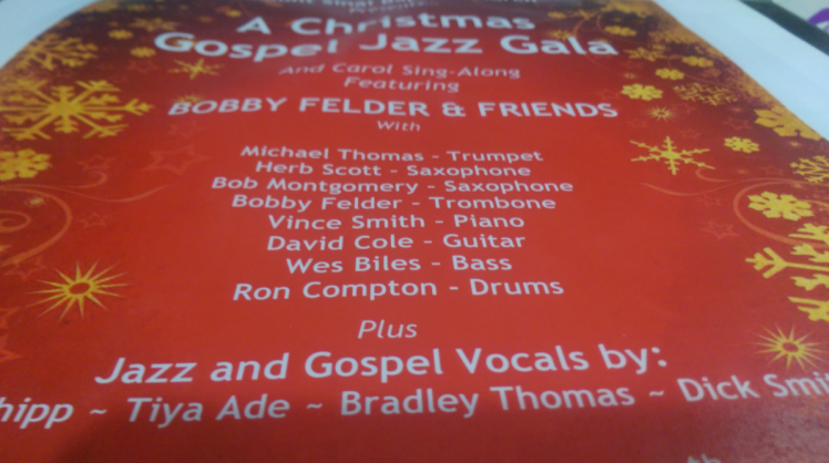 Bradley Thomas Mt Sinai Christmas Gospel Jazz Gala 2015 12 20