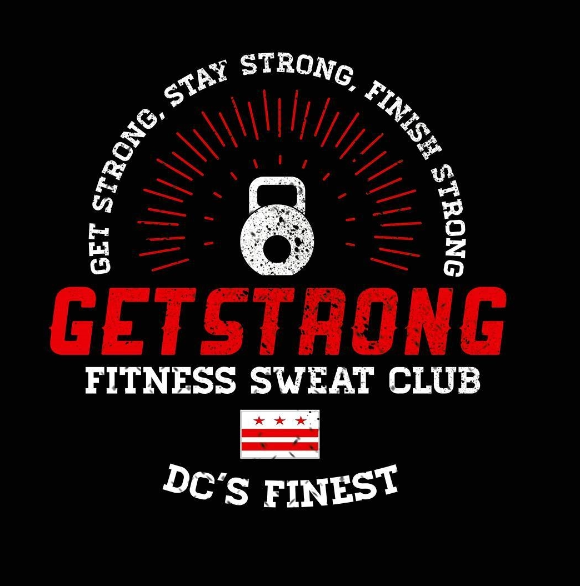 GetStrong Fitness Sweat Club new logo
