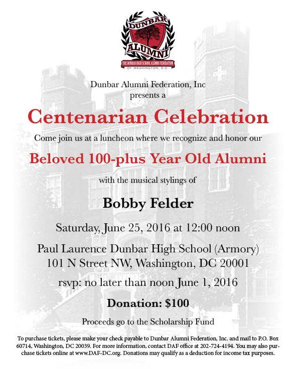 Dunbar Alumni Federation luncheon 2016 06 25
