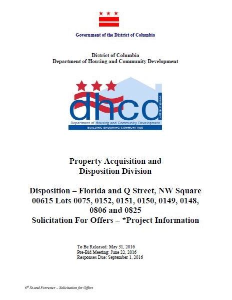 DHCD FlaQNW disposition RFP cover page 2016 05 31