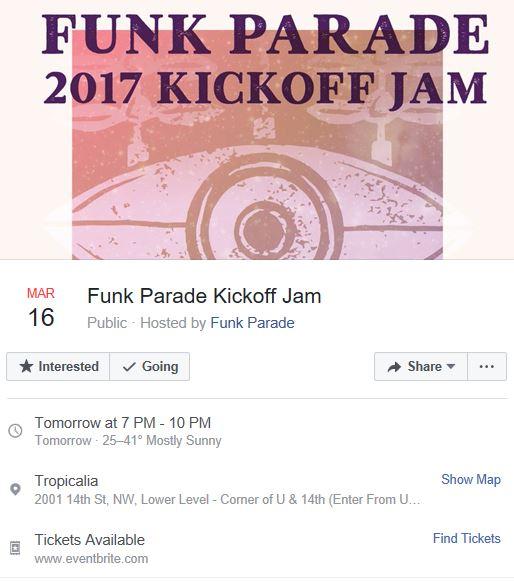 Funk Parade kickoff jam 2017 03 16