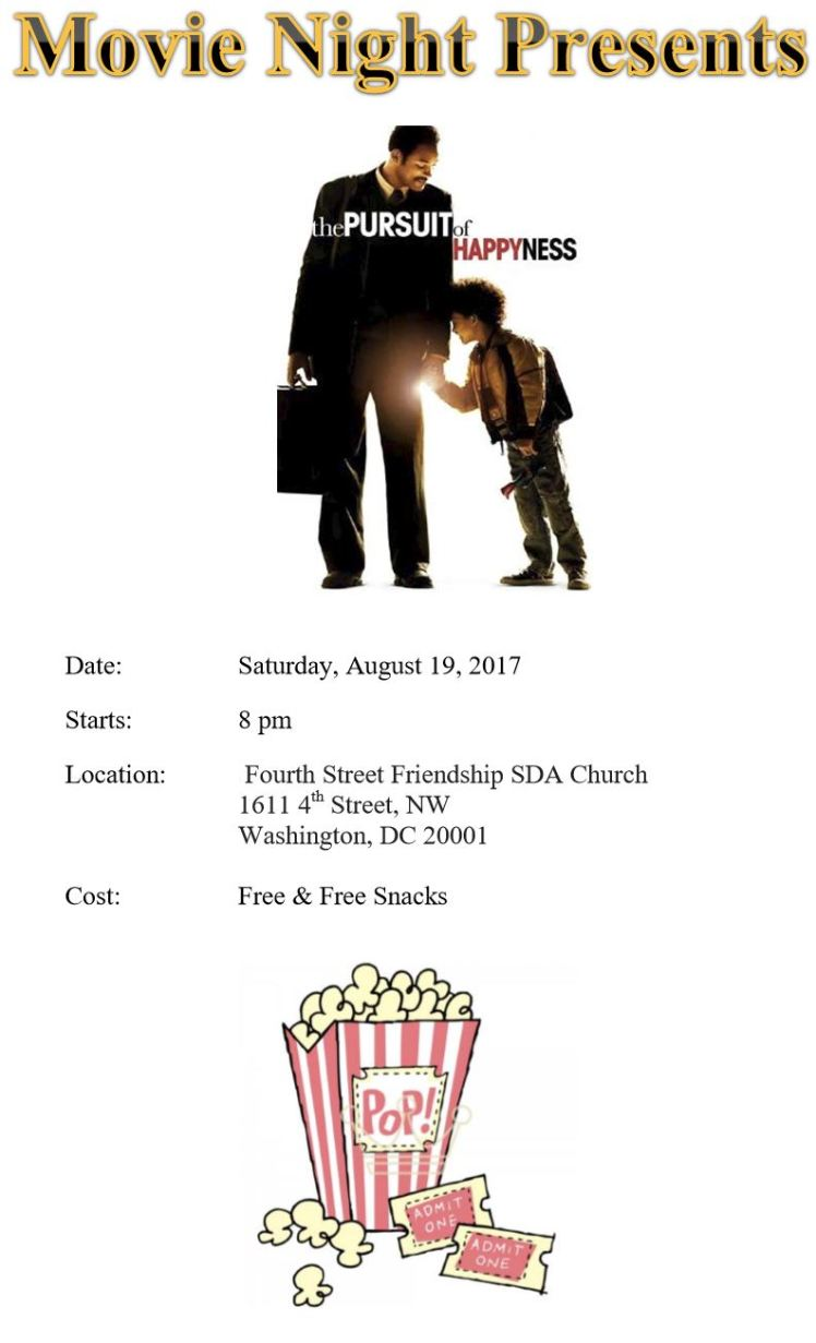 4th Street-Friendship SDA church movie night 2017 08 19 #2
