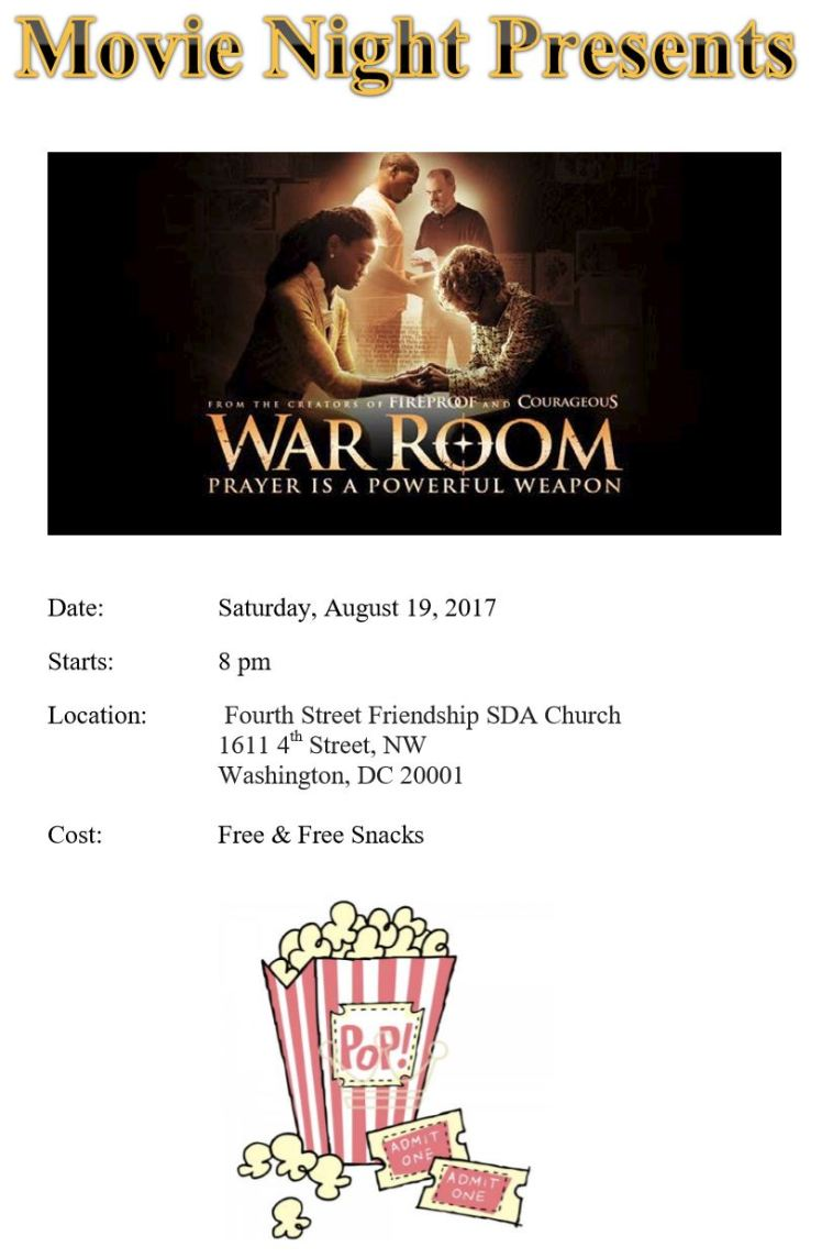 4th Street-Friendship SDA church movie night 2017 08 19