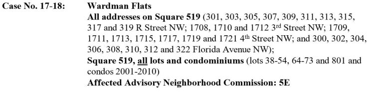 Square 519 HPRB hearing notice 2017
