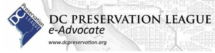 DC Preservation League e-Advocate newsletter banner
