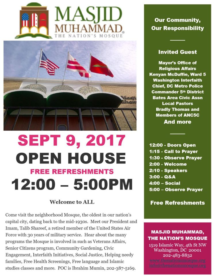 Masjid Muhammend open house 2017 09 09