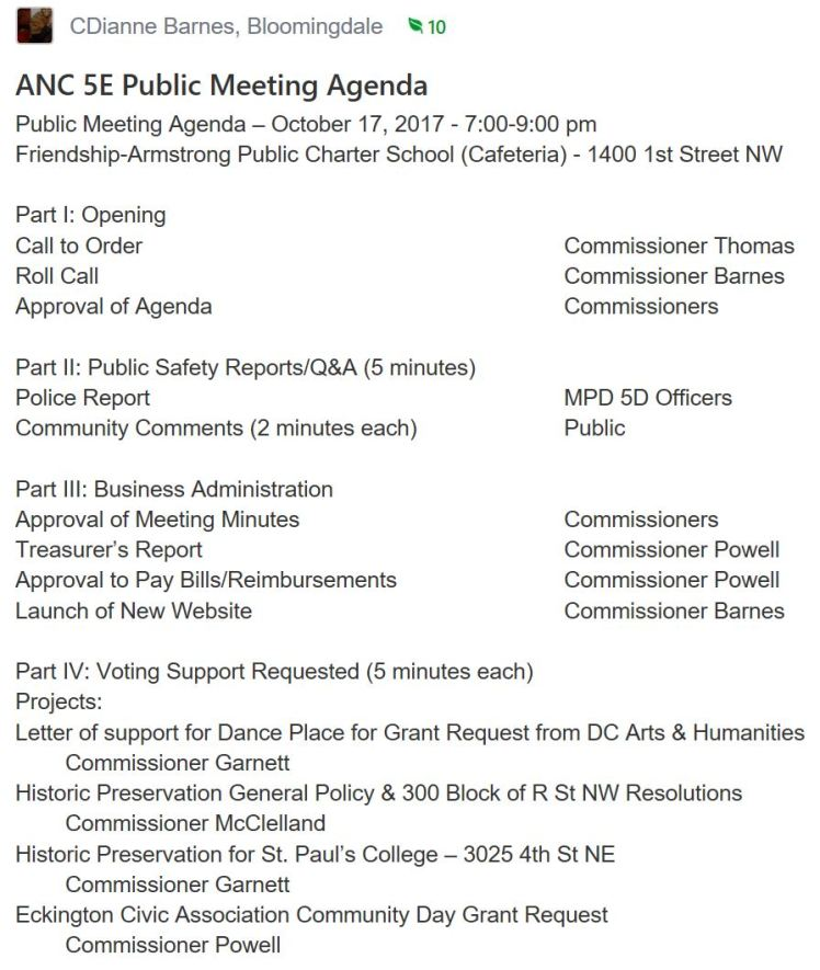 ANC5E meeting agenda 2017 10 17 #1