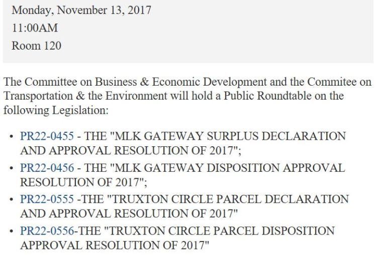 Truxton Circle surplus parcel declaration 2017 11 13 #1