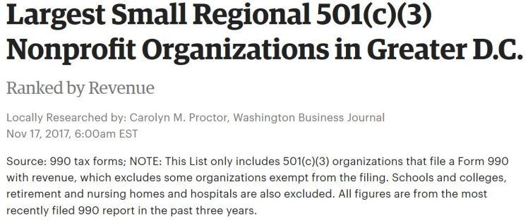 WBJ largest small regional 501c3 2017 11 17 SOME #2