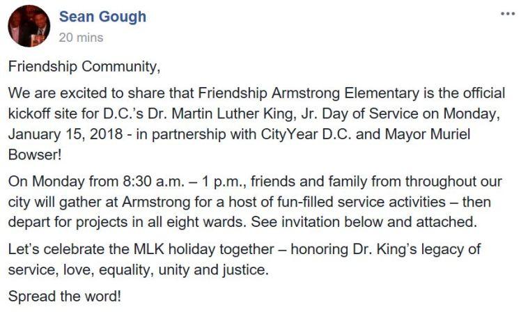 Friendship PCS MLK Day of Service 2018 01 15