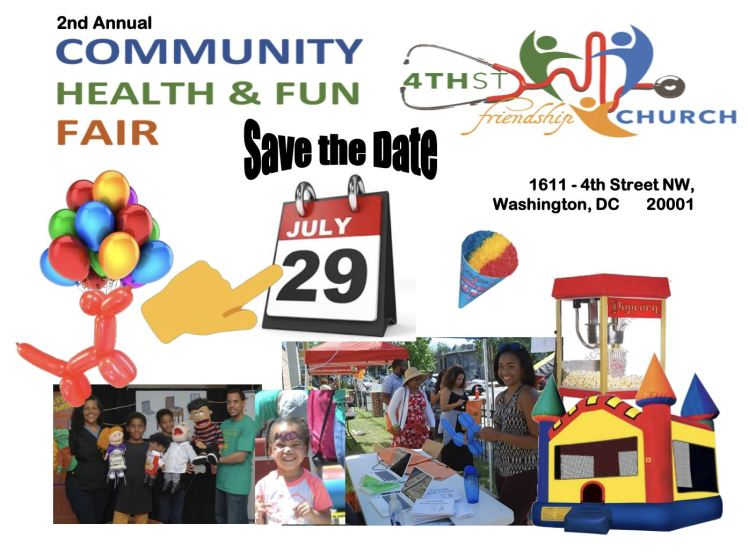 4th Street-Friendship SDA church Health Fair 2018 07 29 save the date