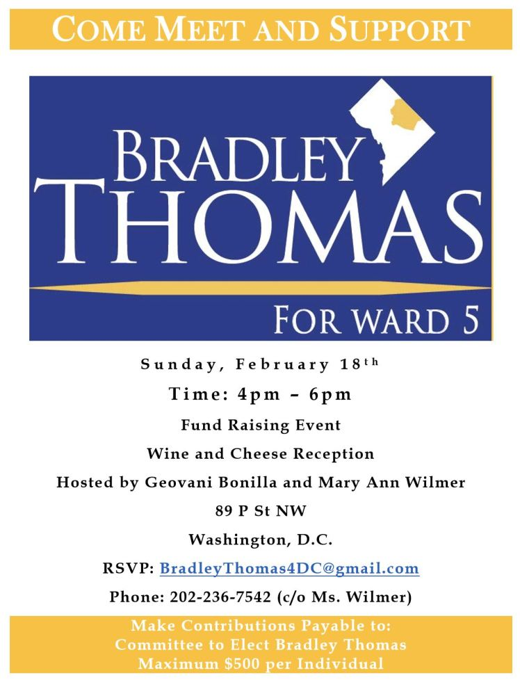 Bradley Thomas for Ward 5 meet n greet 2018 02 18