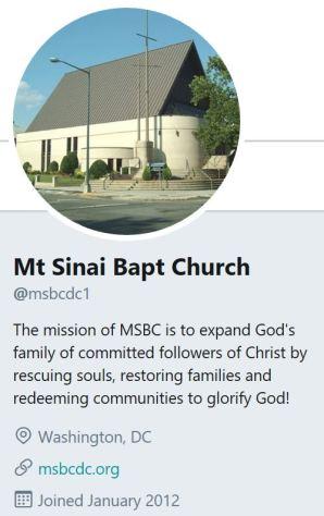 Mt Sinai Baptist Church Twitter 2018 03