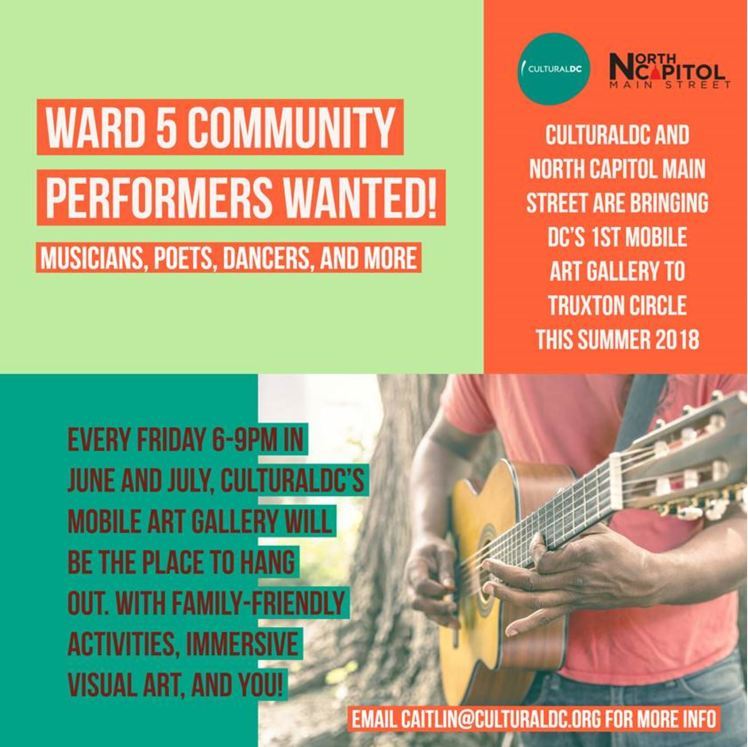NCMS Ward 5 performers wanted 2018 04 16