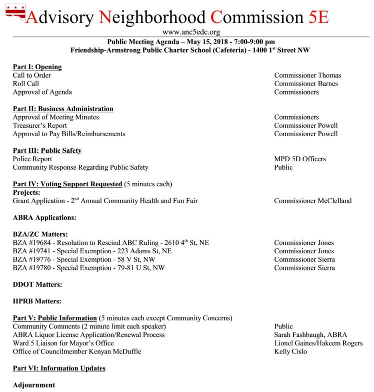 ANC5E meeting agenda 2018 05 15