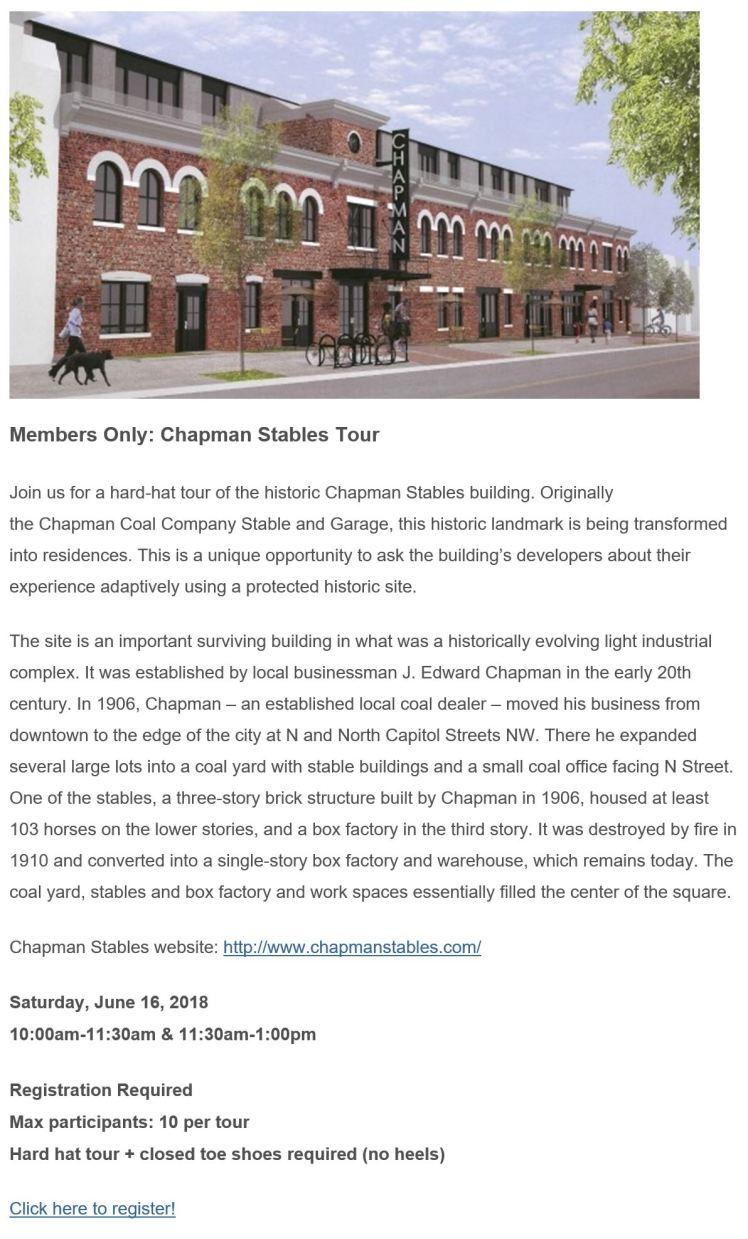 Chapman Stables DC PL tour 2018 06 16
