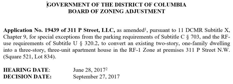 311 P Street NW BZA order 2017 10 #1