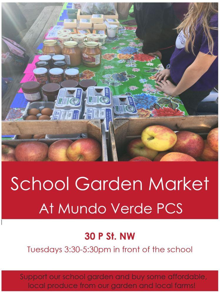 Mundo Verde PVS school garden market flyer 2018