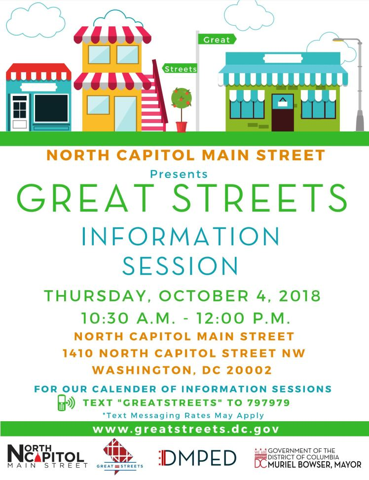 NCMS Great Streets info session 2018 10 04