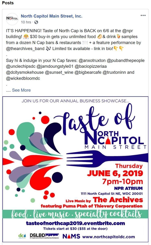 Taste of North Capitol Main Street 2019 06 06