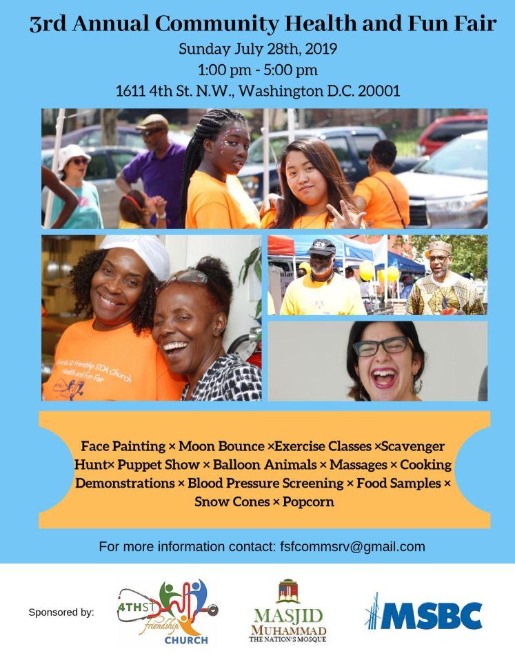4th Street-Friendship SDA church Health Fair 2010 07 28