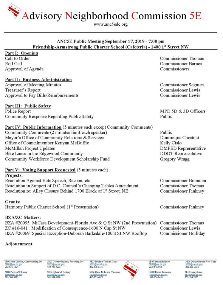 ANC5E meeting agenda 2019 09 17
